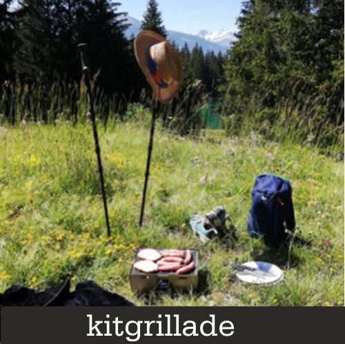 Kitgrillade auf einem Spaziergang