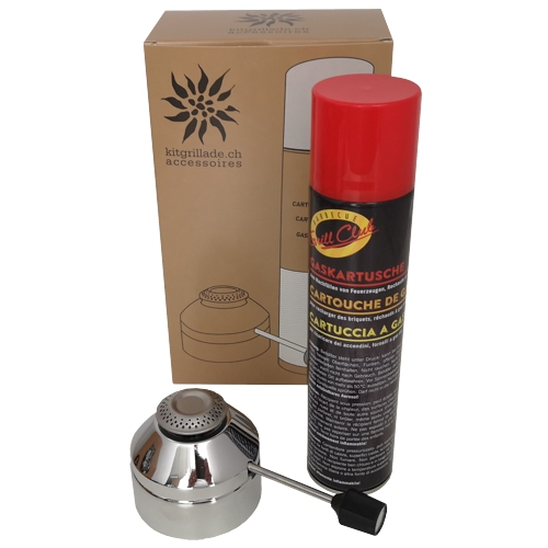 Kitgrillade accessoires brûleur à gaz et cartouche de gaz